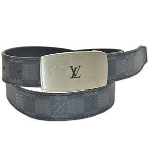 LOUIS VUITTON Damier Graphite Ceinture Lv Cut belt